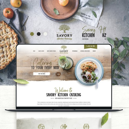 Catering homepage presentation