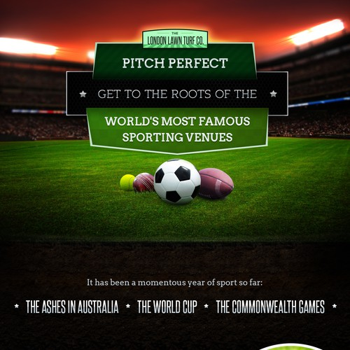 Create an Infographic about the Grass at Sporting Venues