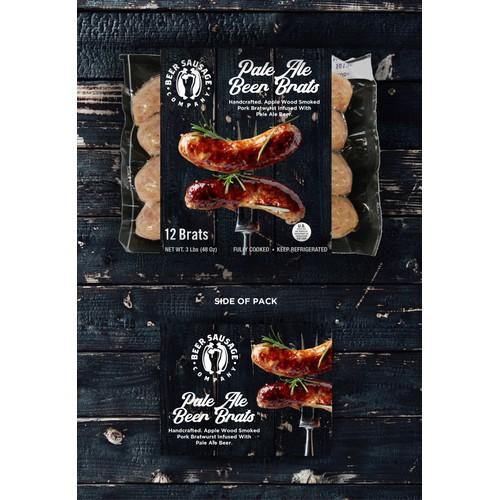 Ale sausage packaging