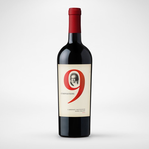 Elegant & classic wine label with a modern twist