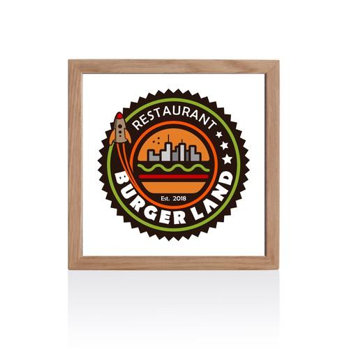 Burger Land, logo available