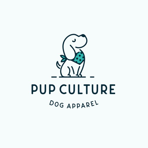Logo for a high-end dog apparel brand