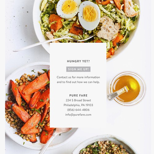 Clean minimal catering booklet