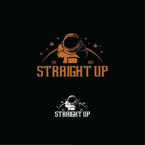 STRAIGHT UP Astronout logo concept for pre roll ciggarette