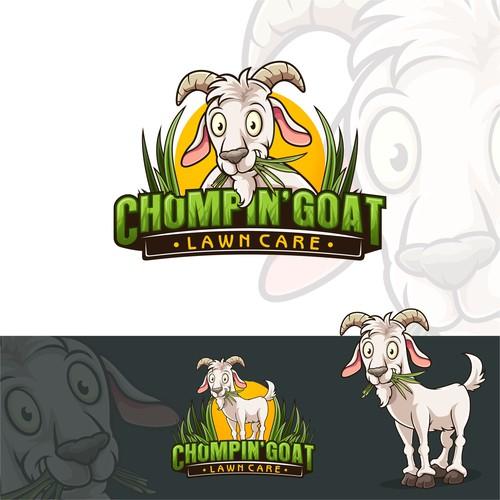 Chomping Goat Mascot Logo