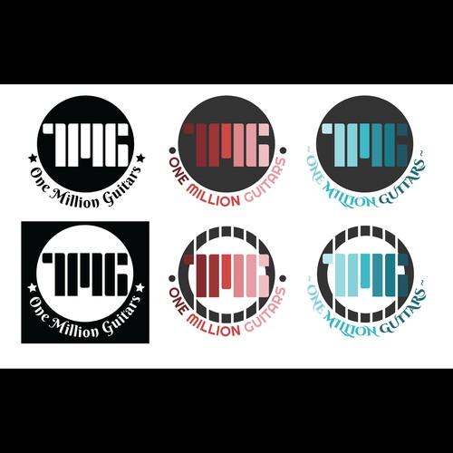 1MG (1 Million Guitars) Guitar Logo