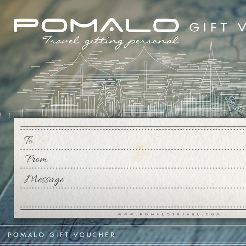 Create a gift card that capture the joy & uniqueness of bespoke travel experiences