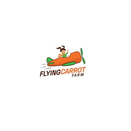 Flying Carrot Farm Logo