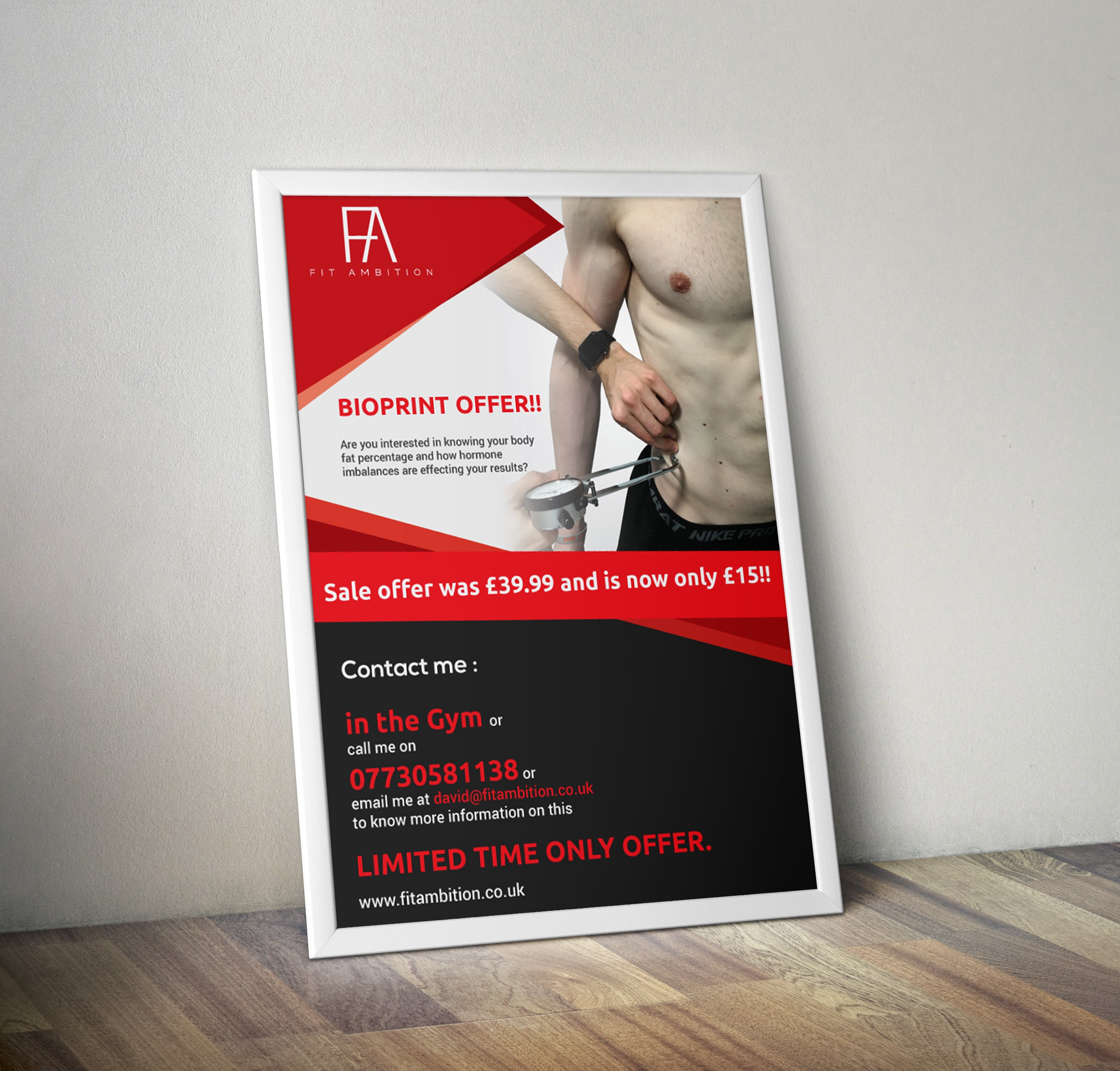 Fit Ambition Services Posters.