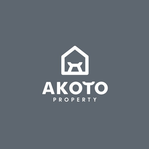 Logo, brand guide and brand identity for Akoto Property