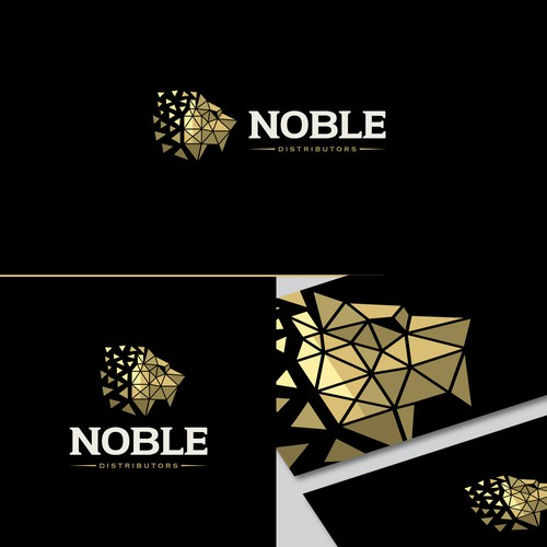 Modern logo for NOBLE Distributors