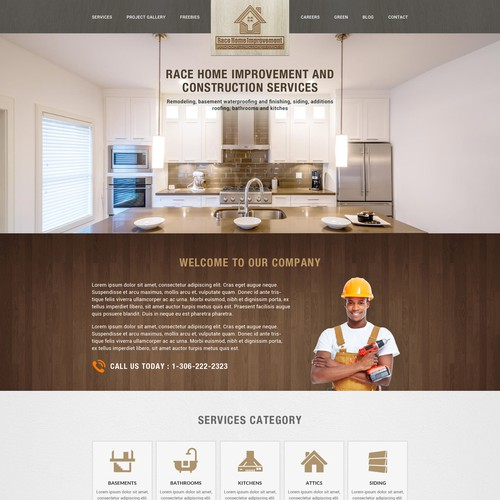 Home Page Design For Race Home Improvement