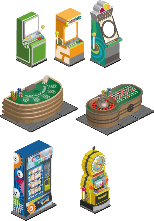 Gamify.com casino props for html5 virtual world