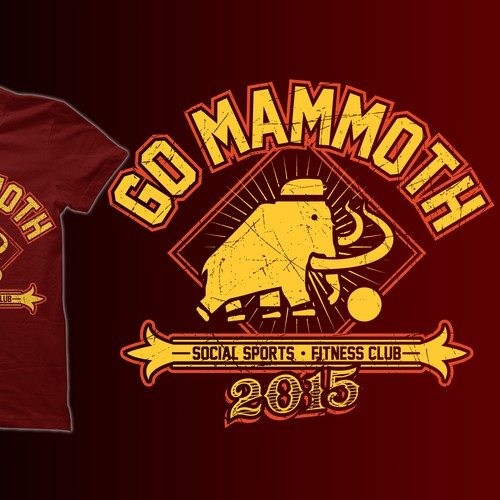 2 color shirt design on maroon.