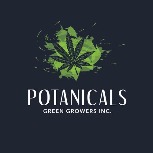 Create a compelling, to-become-a-classic, logo for Potanicals, Canadian medical marijuana producer