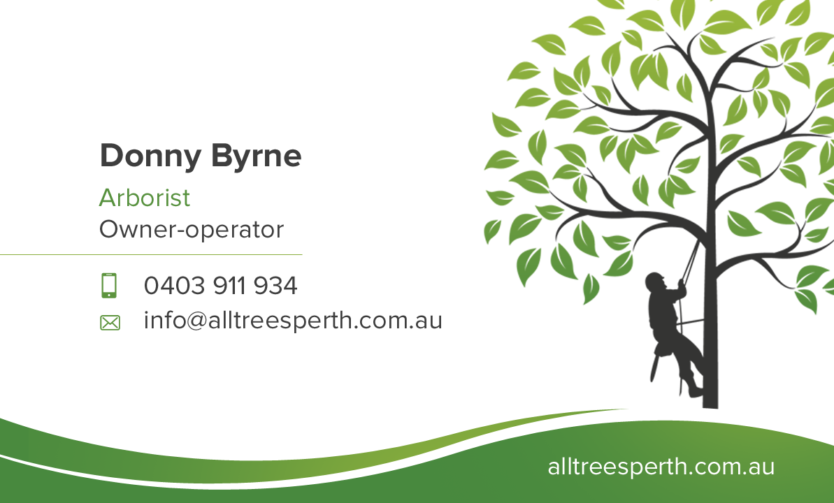 All Trees Perth Business Card