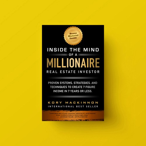 Typographic Business Book Cover