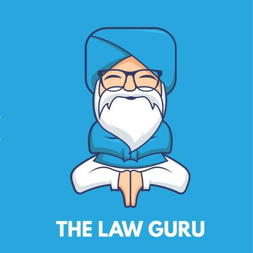 Guru character logo concept