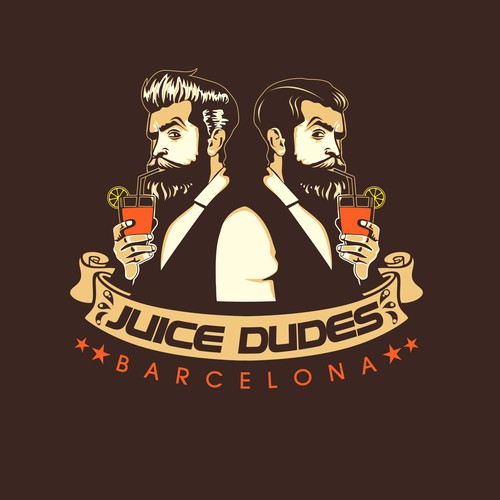 Logo Design for Juice Dudes, Barcelona
