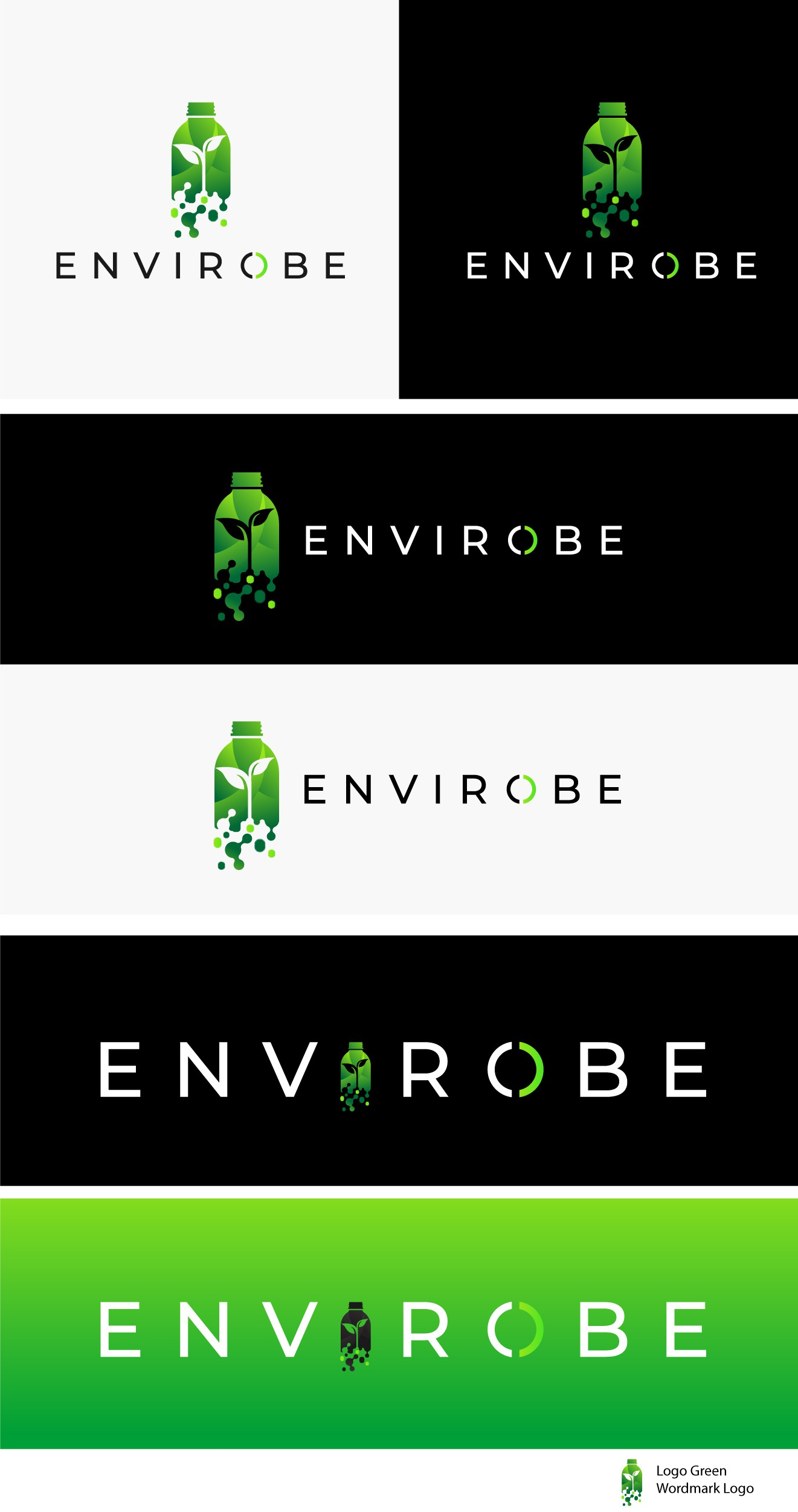 Logo for life sciences/technology company focused on solving Environmental Pollution!