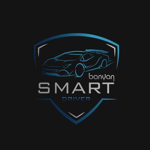 automotive thin logo concept