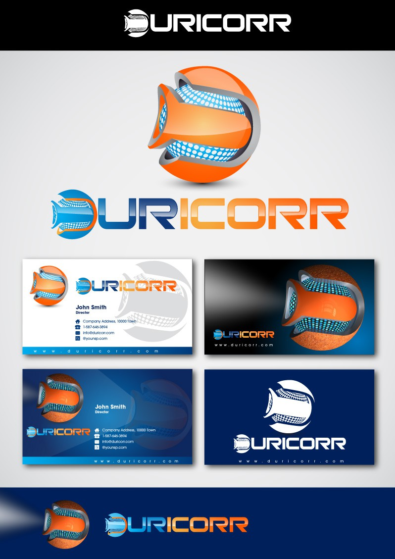 logo and business card for Duricorr