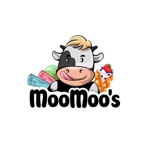 moomoo's logo for ice cream