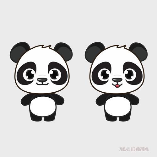 A Cute Panda Character Design