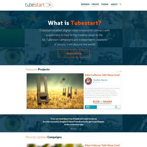 Create a responsive design for a crowdfunding plaform