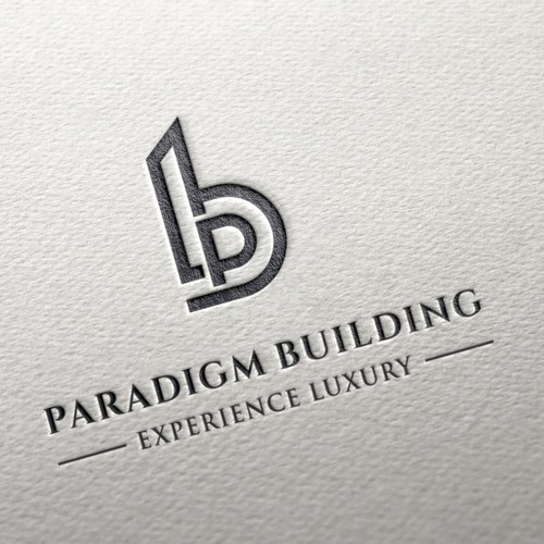 real estate logo with a monogram