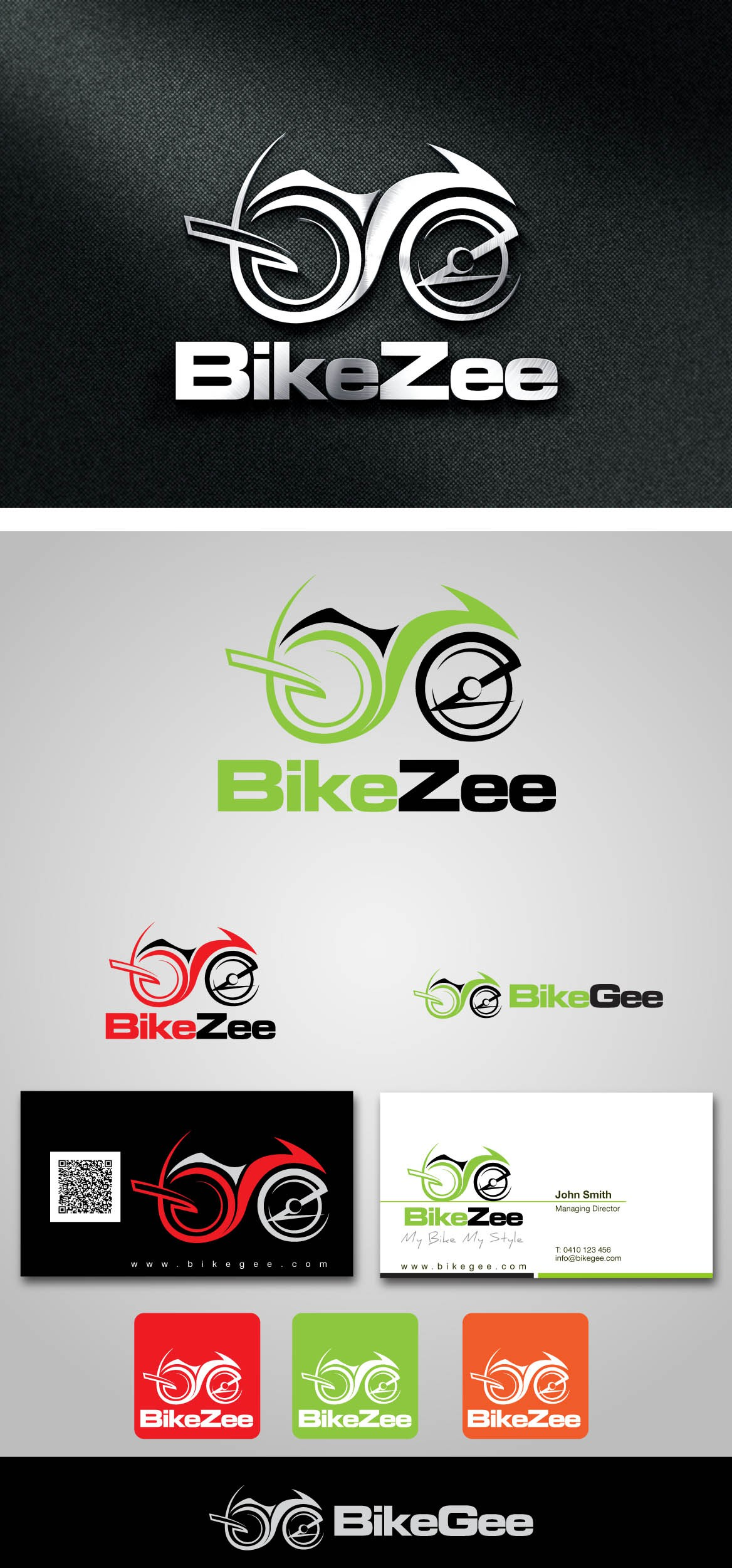 Create sporty Logo for BikeZee