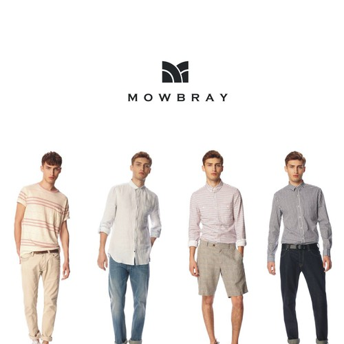 Create a brand logo for MOWBRAY casual wear products