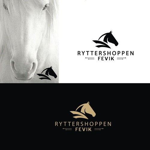 SOLD -Bold logo for shop with horse related items