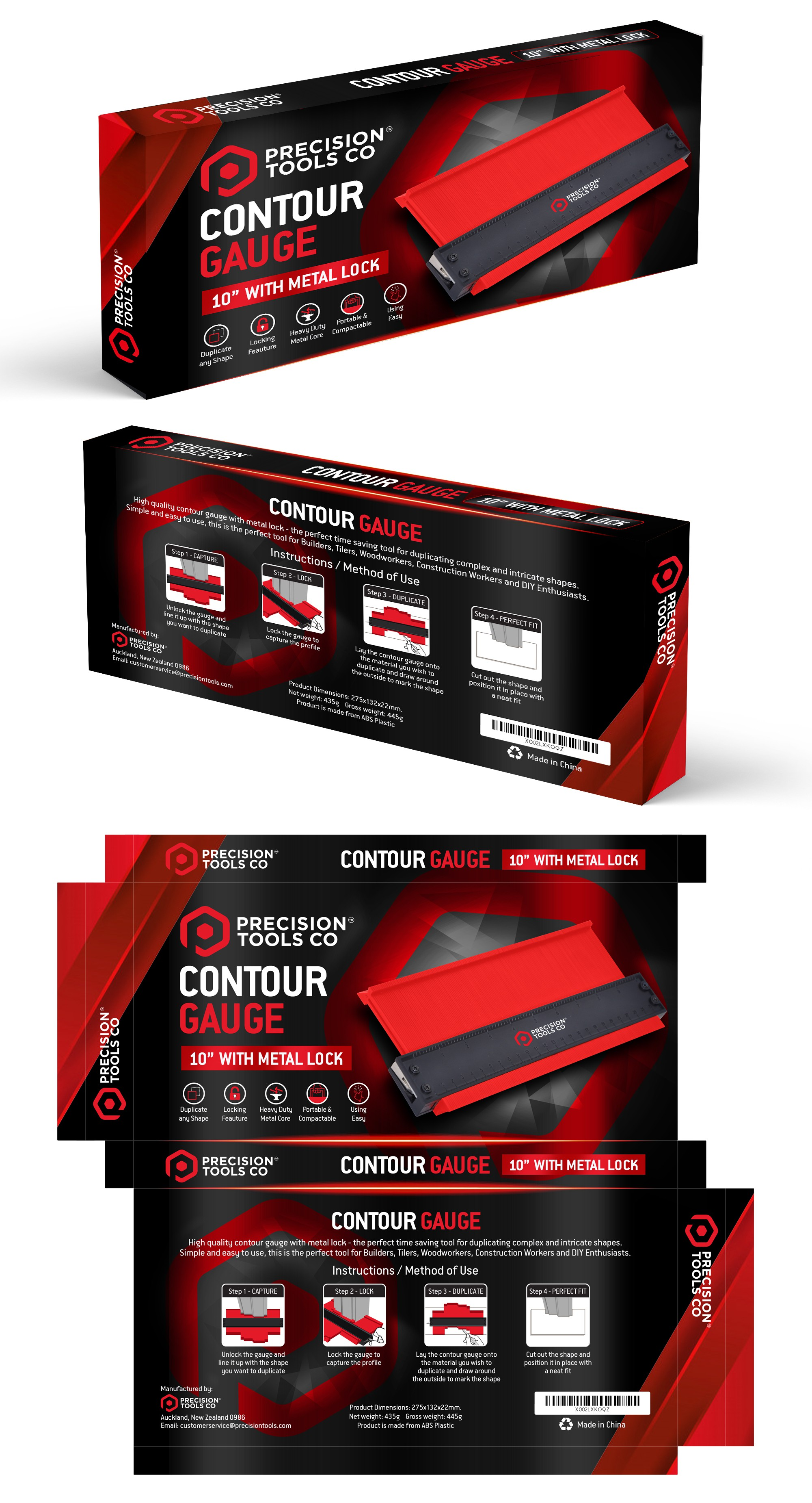 Precision Tools Co Packaging Design