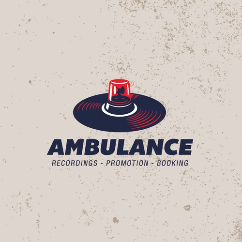retro logo concept for Ambulance Recordings