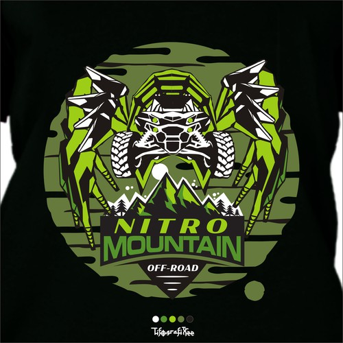 T shirt design for Mountain Trail