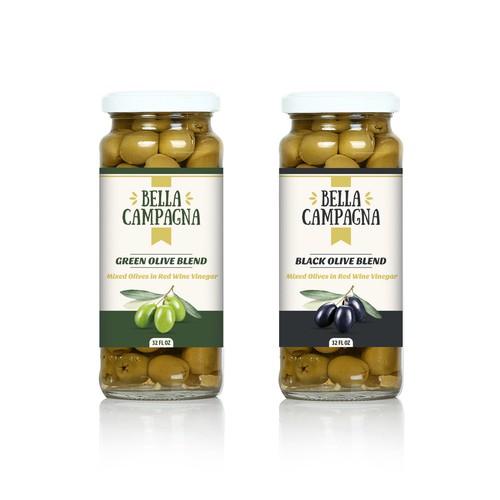 Olives label design