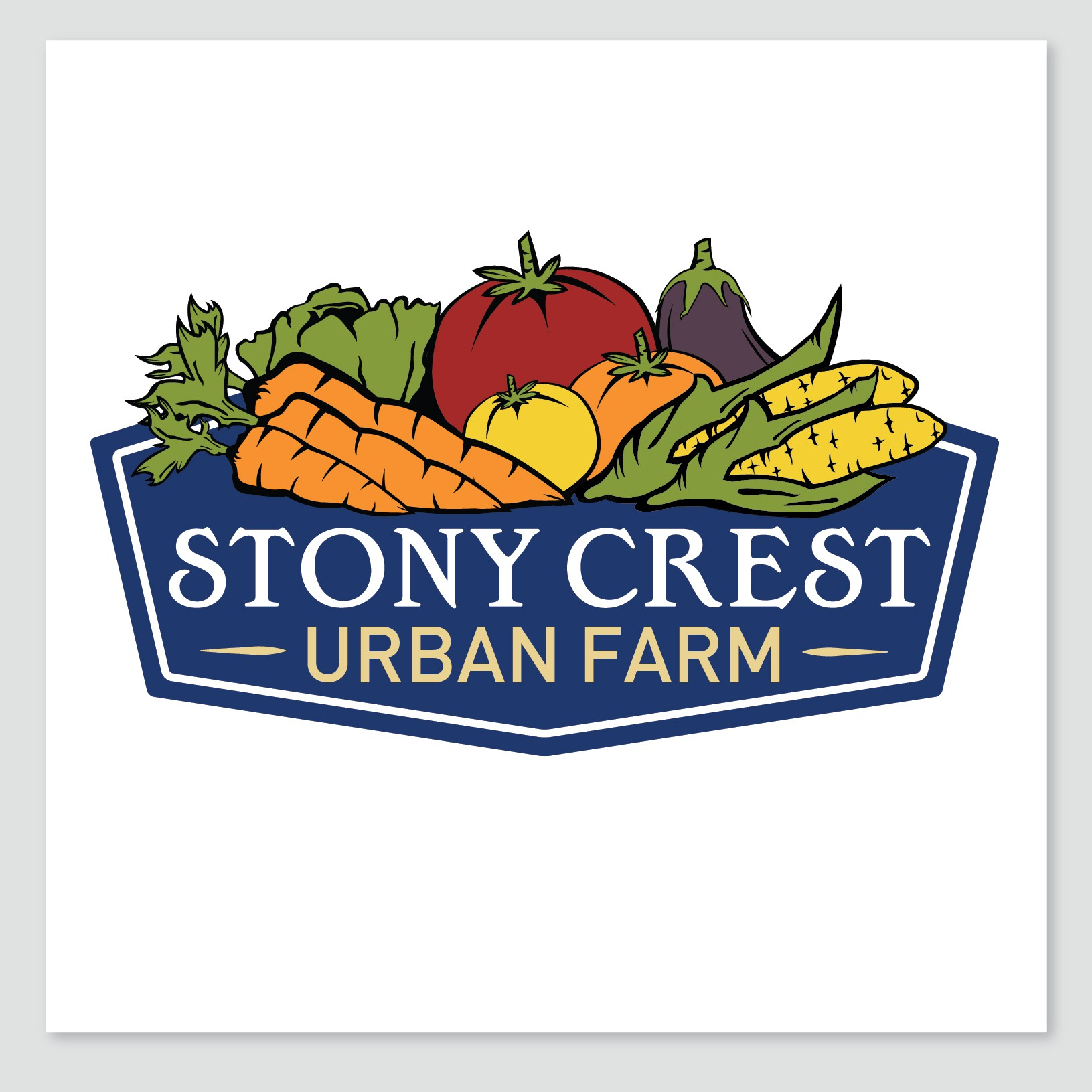 Create the next logo for Stony Crest Urban Farm