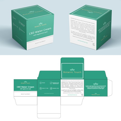 Cosmetics & Beauty Packaging for Botanical Touch Company