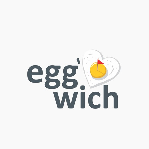Logo concept for egg and sandwich