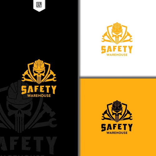 simple vintage logo for Ecommerce site for safety supplies and gear for construction