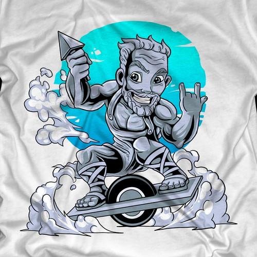 Skateboard shirt design