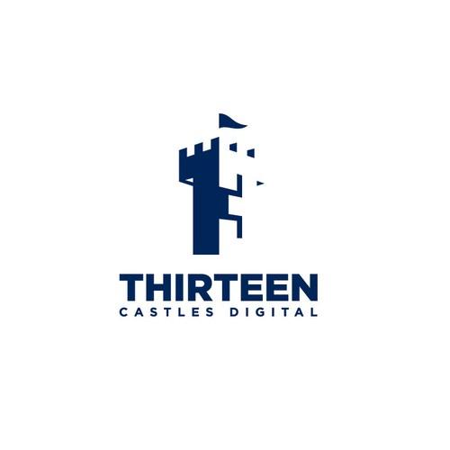 Logo concept for Thirteen Castles Digital