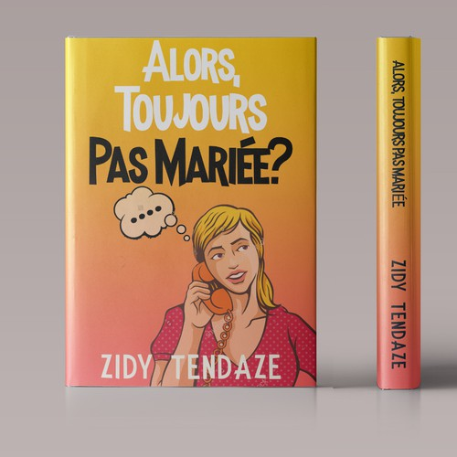 Book cover concept for French Chick lit covers