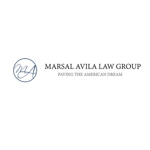 logo and business card for MARSAL AVILA LAW GROUP
