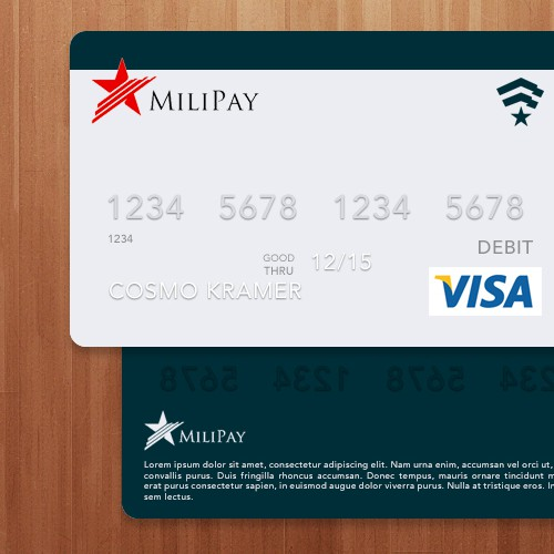 Design our PrePaid MasterCard Debit Card templet.
