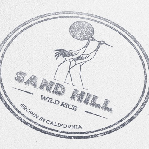 Create a classic packaging logo for Sand Hill Wild Rice!