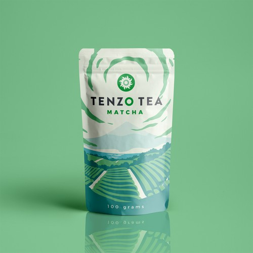 Packaging illustration for Tenzo Tea