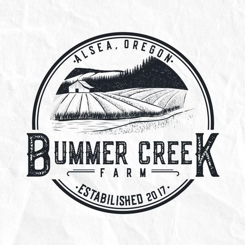 Winning Logo Design for Bummer Creek Farm