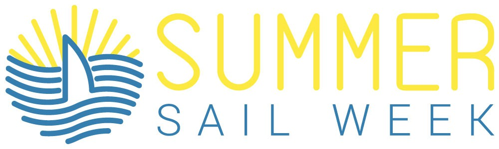 Create a modern fun logo for our party brand, Summer Sail Week